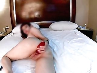 My First-ever Time Movie & A Fake Penis Too Big For Me (real Melons Cock-squeezing Muff) 18yo